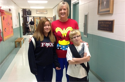CCMS  principle with two students